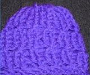 loom knit a hat 2