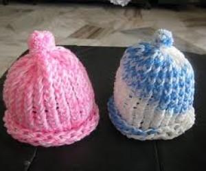 Loom Knitting baby hats