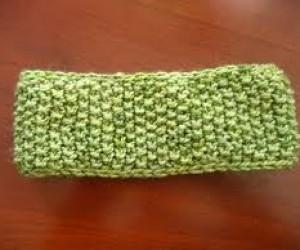 loom knit moss stitch