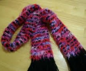loom knit thick scarf