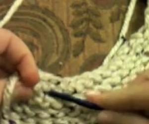 loom knit visor