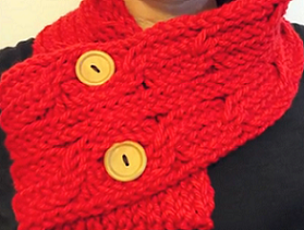 How To Loom Knit A Cabled Scarf