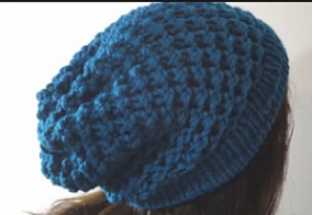 Loom Knitted Slouchy Hat