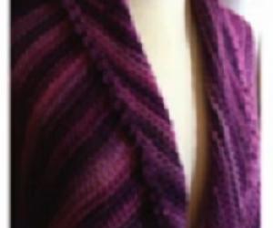 Loom Knit the Picot Triangle Shawl