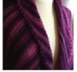 Loom Knit the Picot Triangle Shawl