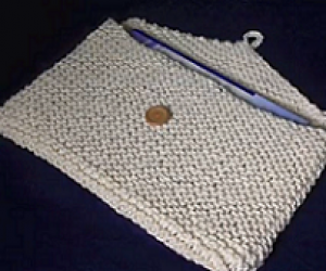 How to Loom Knit a breifcase or tablet case