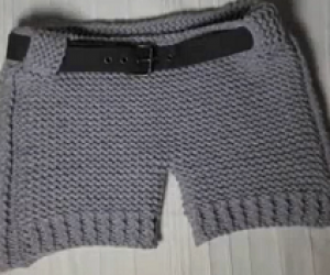 How To Loom Knit Shorts