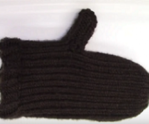 Loom Knit A Mitten On A Round Loom