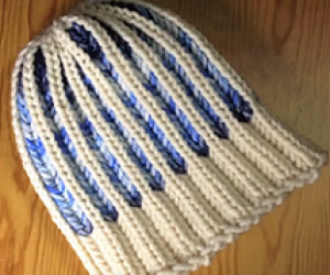 Loom Knit Brioche Hat