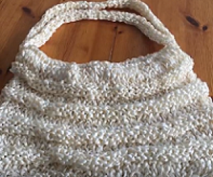 Loom knit bag