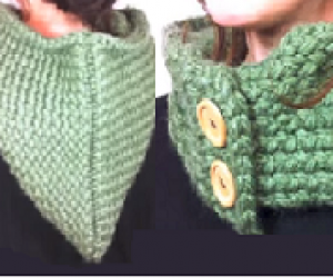 Learn To Loom Knit A Hooded Cowl
