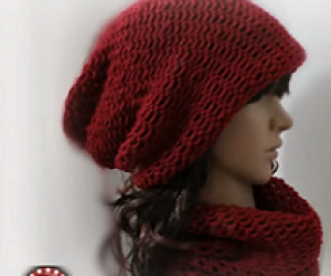loom-knit-easy-slochy-hat-and-cowl