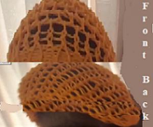 Loom knit a summer head scarf.