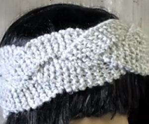 Loom Knit A Braided HeadBand