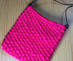 Loom Knit A T-Shirt Summer Purse