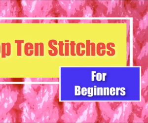 LOOM KNITTING Stitches for Beginners