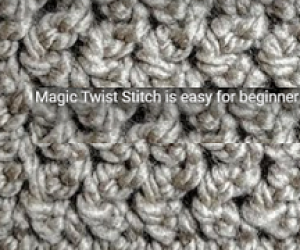 Loom Knit The Easy Magic Twist Stitch - Fast and Easy For Beginners