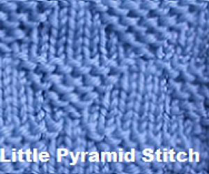 Loom Knit the Little Pyramid Stitch - An easy stitch for beginners